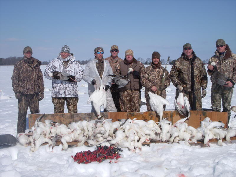 Canadian Goose Hunting in Snow